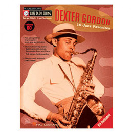 Método Livro Saxofone Dexter Gordon 10 Jazz Favorites Play Along Volume 60