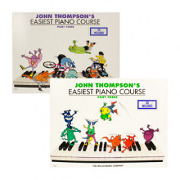 Kit Método Piano John Thompson Easiest Course Parte 3 & 4