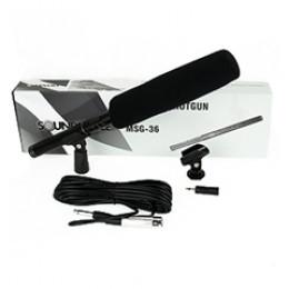 Microfone Shotgun Profissional Alto Padrão Sound Voice MSG36 + Brindes