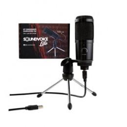 Microfone Condensador c/ Ajuste Volume e Acessórios Soundvoice Lite Soudcasting 1200 Cod. 001588 ( Kit )