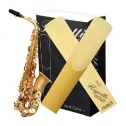 Palheta Sax Alto Light Medium Strong Rigotti Gold France (Unidade)
