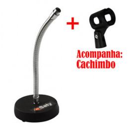 Suporte Pedestal de Mesa para Microfone Saty