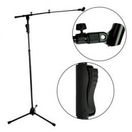 Suporte Pedestal Girafa Telescópico ( dois ajustes ) Microfone Saty PMG100 Com Cachimbo