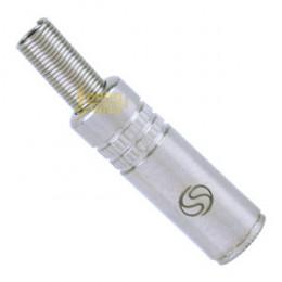 Plug Adaptador P2ST Fêmea Niquelado Santo Angelo