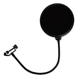 Pop Filter Tela Anti Sopro Microfone Haste Flexível Smart PS01