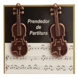 Prendedor Partitura Hinário Clipet Violino Paganini