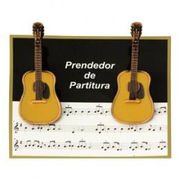 Prendedor Partitura Hinário Clipet Violão Paganini