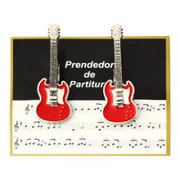 Prendedor Partitura Hinário Clipet Guitarra Paganini
