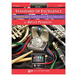 Método Clarinete Sib Livro Standard of Excellence Band Method by Bruce Pearson c/ 2 Cd´s Livro 1 ( Book 1 )