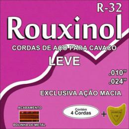 Encordoamento Cavaquinho Aço Tensão Leve Rouxinol R32