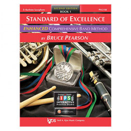 Método Sax Barítono Livro Standard of Excellence Band Method by Bruce Pearson c/ 2 Cd´s Livro 1 ( Book 1 )