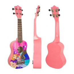 Ukulele Soprano Acústico Frozen Rosa  Disney Phx 21