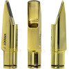 Boquilha Sax Alto Barkley Verdot 7 Metal Dourado ( Gold ) Completa Brinde Protetor Bag