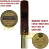 Boquilha Sax Tenor Barkley Jazz Hybrid 7 Vermelha Completa Bag Protetor Brinde