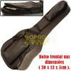 Capa Violão Clássico PVC Emborrachado Marrom Pelúcia Alta Qualidade Protection Bags