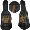 Capa Violoncelo 4/4 PVC Emborrachado Preto Marrom Pelúcia Alta Qualidade Protection Bags + Brindes
