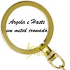 Chaveiro Colcheia Metal Dourado Musical Paganini