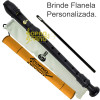 Flauta Doce Soprano Germânica  Preto Fosco + Bag + Agulha Custom Sound
