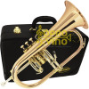 Flugelhorn Sib Gatilho Campana Gold Brass Semi Profissional Hoyden HFG50