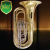 Tuba Sinfônica 4/4 Sib c/ 4 Pistos Laqueada Weril J981 c/ Capa e Acessórios