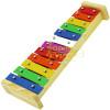 Metalofone 12 Notas Metal colorido Musicalização Infantil Dolphin 8878