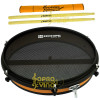 """Pad Laranja Estudo Pele Mute ( Muda ) NOHPE40 Aro 8"""" Sistema Wire Rosca Luen Percussion + Brindes"""