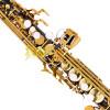 Sax Soprano Sib Preto Onix Chaves Douradas Gold Hoyden HSS 25B