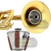 Surdina Compacta Alumínio Estudo Trompete Cornet Pocket Torelli
