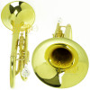 Trombonito Trombone De Marcha Sib Laqueado Weril M567L c/ Capa e Acessórios