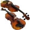 Viola de Arco 42cm Envelhecida Natural Fosca com Espaleira Hoyden Cód VLHE1651