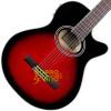 Violão Mini Jumbo Cutaway Nylon Brown Red Eletroacústico Giannini GNF 1D CEQ BRB / Capa + Acessórios