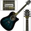 Violão Folk Cutaway Eletroacústico Dark Blue Burst Brilho Giannini GF 1D CEQ DBB + Capa Acessórios