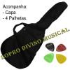 Violão Folk Eletroacústico Cordas Aço Sunburst Marquês VAEQ-01SB c/ Capa + Acessórios