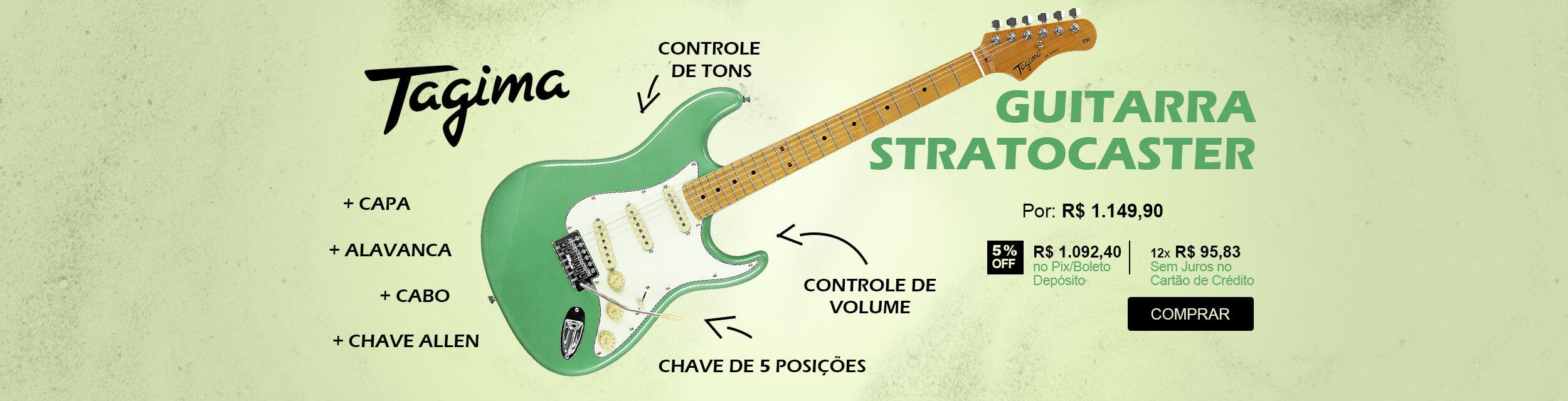 Guitarra Stratocaster Surf Green Tagima