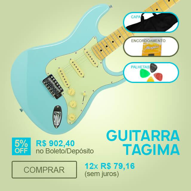 F - Guitarra Stratocaster Azul Brilho Tagima