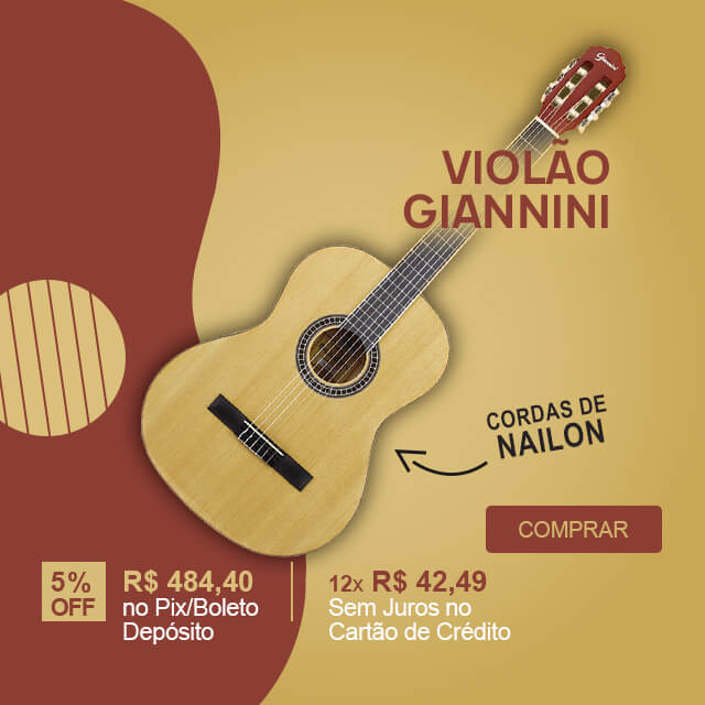 Violão Acústico Nailon Natural Giannini GN 15 N