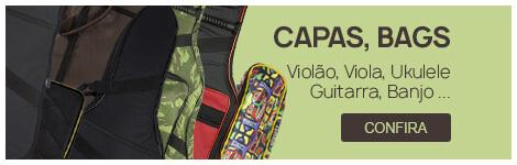 Capas/Cases - Violão, Guitarra, Ukulele, Cavaquinho, Baixo