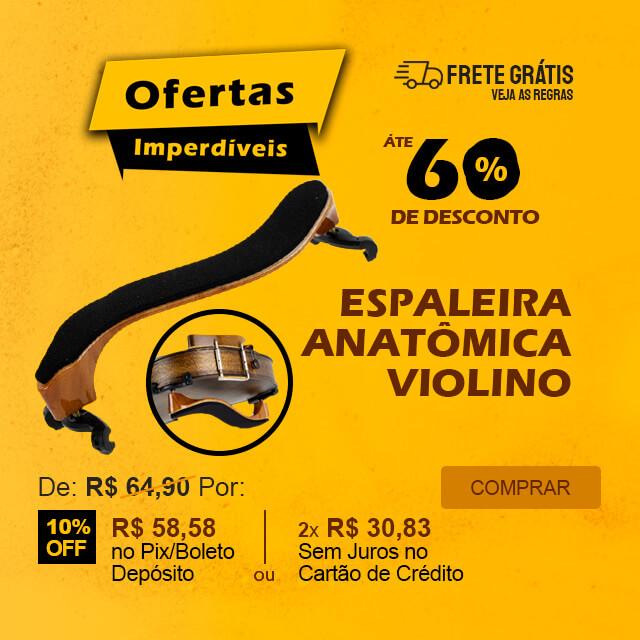 Ofertas Imperdíveis - Espaleira Violino 4/4 Anatômica Confortável Jahnke JVA01 BR