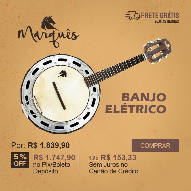 Banjo Elétrico Profissional Marques